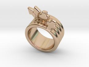 Love Forever Ring 19 - Italian Size 19 in 14k Rose Gold Plated Brass