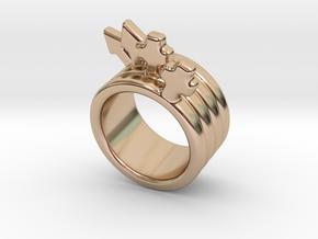 Love Forever Ring 20 - Italian Size 20 in 14k Rose Gold Plated Brass
