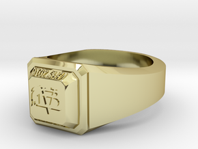 VBHS Simple Class Ring in 18k Gold Plated Brass