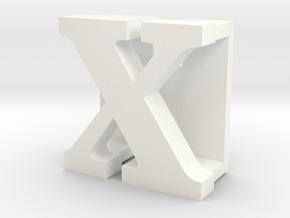 BandBit X, Fitbit Flex (Fits parallel to strap.) in White Processed Versatile Plastic