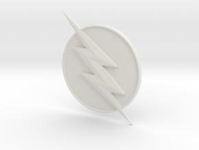 Reverse Flash CW Logo in White Natural Versatile Plastic