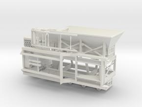 1/50th Large 45' Impact Rock Crusher Trailer in White Natural Versatile Plastic