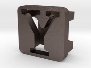 BandBit Y2 for Fitbit Flex in Polished Bronzed Silver Steel