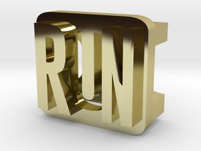 BandBit Run for Fitbit Flex in 18k Gold Plated Brass
