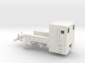 MOW Truck 1-87 HO Scale (Positional) in White Natural Versatile Plastic