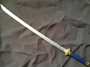 Anime Katana 1 in White Strong & Flexible