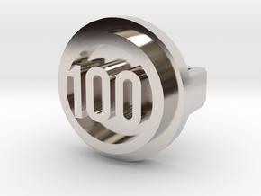 BandBit Barre 100 Class in Rhodium Plated Brass