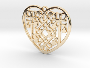 Victorian Heart in 14K Yellow Gold