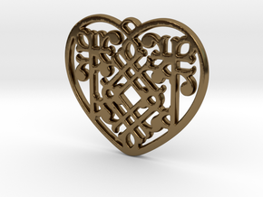 Victorian Heart in Polished Bronze