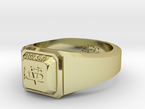 ClassRing size 9 in 18k Gold Plated