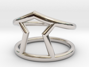 Urgency Ring in Rhodium Plated Brass