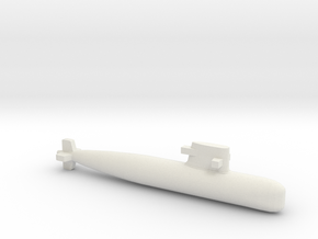 PLA[N] 039G Submarine, Full Hull, 1/2400 in White Natural Versatile Plastic