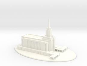 Wedding Topper, LDS Oquirrh Mountain, Utah Temple in White Processed Versatile Plastic