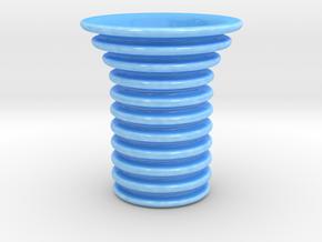 Section Vase in Gloss Blue Porcelain
