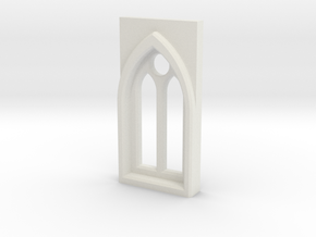 Building details series - Gothic Window 3mm Type 1 in White Natural Versatile Plastic