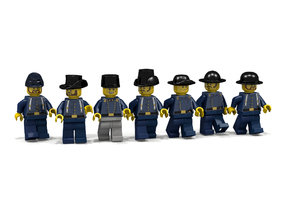 7 x American Civil War in Black Hi-Def Acrylate