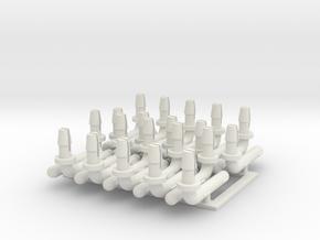 PH4APTBP10 Hornby APT Bogie Pivot/Tilt Pins  in White Natural Versatile Plastic