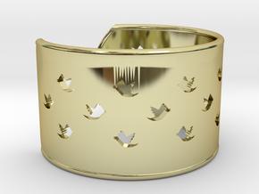Bird Bracelet XL Ø73 Mm/2.874 inch in 18k Gold Plated Brass