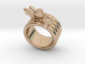 Love Forever Ring 23 - Italian Size 23 in 14k Rose Gold Plated Brass