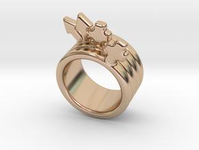 Love Forever Ring 24 - Italian Size 24 in 14k Rose Gold Plated Brass