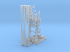 Propane Loader Station Z Scale in Smooth Fine Detail Plastic