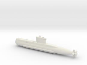 1/600 Type 209 - 1200 class submarine in White Natural Versatile Plastic