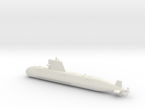 1/600 Scorpene class submarine in White Natural Versatile Plastic