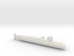1/600 Lafayette Class Submarine in White Natural Versatile Plastic