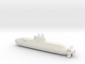 1/600 Dolphin class submarine in White Natural Versatile Plastic