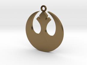 Star Wars Rebel Alliance Charm in Polished Bronze