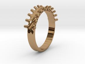 Digital splash in Polished Brass