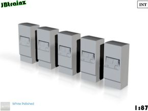 5 Ticket machines (1:87) in White Processed Versatile Plastic