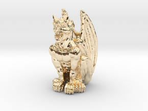 Gargoyle Statue v2 in 14K Yellow Gold