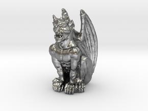 Gargoyle Statue v2 in Natural Silver