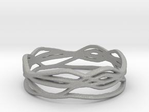 Ring Design 01 Ring Size 9 in Aluminum