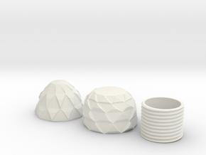 Screwable Dragon Egg in White Natural Versatile Plastic