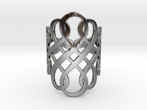 Celtic Knot Ring Size 7 in Fine Detail Polished Silver