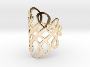 Celtic Knot Ring Size 8 in 14K Yellow Gold