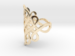 Celtic Knot Ring Size 9 in 14k Gold Plated Brass