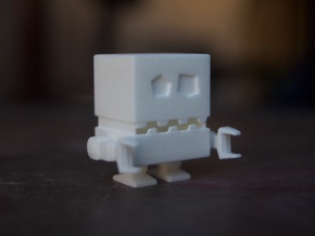 Robotico Miniature in White Processed Versatile Plastic