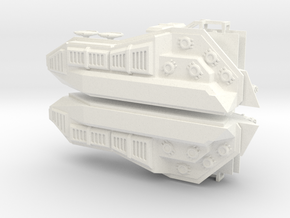 28mm Hover Tank Conversion Kit Both Sides in White Processed Versatile Plastic