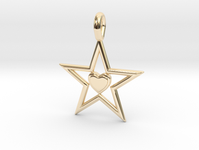 Pendant Of Star in 14K Yellow Gold