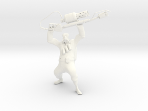 TF2 Pyro (proof of concept) in White Strong & Flexible Polished