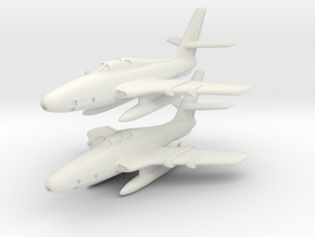 Republic RF-84F Thunderflash (2 airplanes) 1/285 in White Natural Versatile Plastic