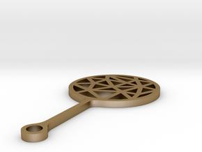 Bubble Break - Necklace -metal - C in Polished Gold Steel