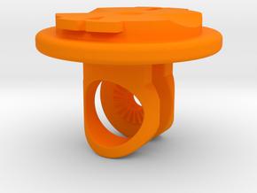 Virb / Garmin Quarter-turn Adapter Mount in Orange Processed Versatile Plastic