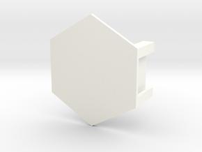 Battletech Miniature Hex Base in White Processed Versatile Plastic