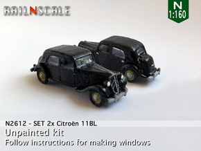 SET 2x Citroën 11BL (N 1:160) in Smooth Fine Detail Plastic