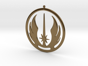 Symbol of the Jedi Order in Polished Bronze