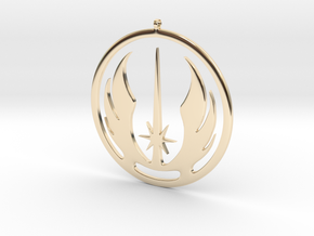 Symbol of the Jedi Order in 14k Gold Plated Brass